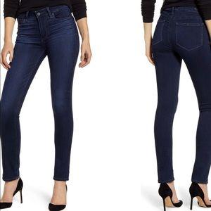 PAIGE Size 8 Regular Super Skinny Dark Wash Jeans
